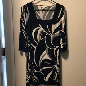 White House Black Market black and white dress